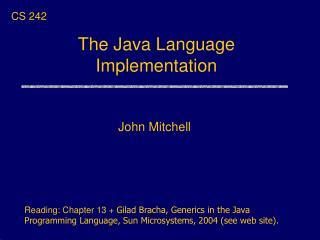 The Java Language Implementation
