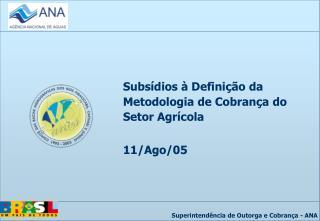 Subsídios à Definição da Metodologia de Cobrança do Setor Agrícola 11/Ago/05
