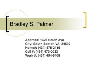Bradley S. Palmer