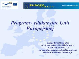 Programy edukacyjne Unii Europejskiej