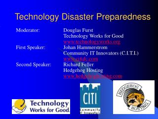 Technology Disaster Preparedness