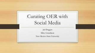 Curating OER with Social Media