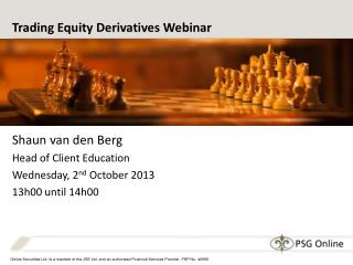 Trading Equity Derivatives Webinar
