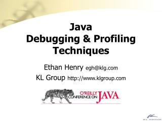 Java Debugging & Profiling Techniques