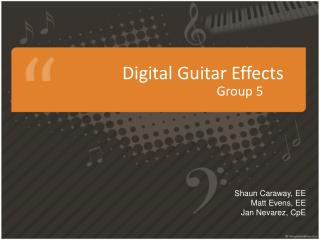 Digital  Guitar Effects