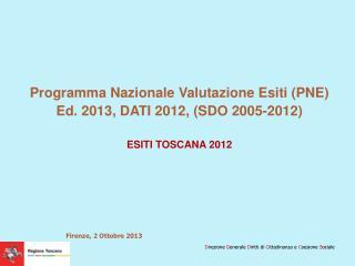 Programma Nazionale Valutazione Esiti (PNE) Ed. 2013, DATI 2012, (SDO 2005-2012)