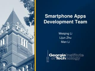 Smartphone Apps Development Team