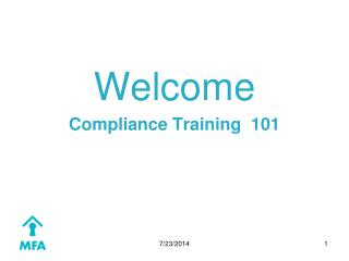 Welcome Compliance Training  101