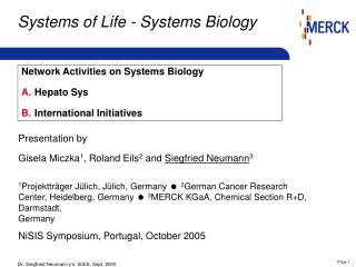 Systems of Life -  Systems Biology