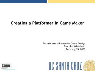 Creating a Platformer in Game Maker