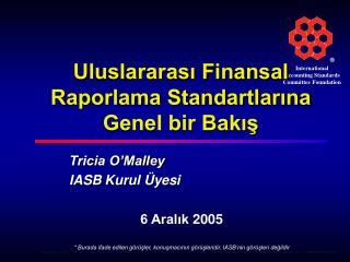 Uluslararası Finansal Raporlama Standartlarına Genel bir Bakış