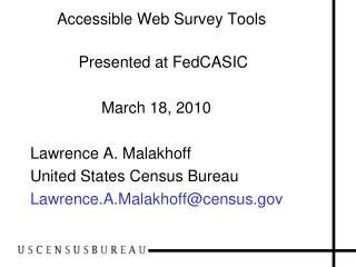 Accessible Web Survey Tools