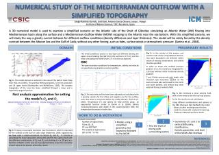 NUMERICAL STUDY OF THE MEDITERRANEAN OUTFLOW WITH A SIMPLIFIED TOPOGRAPHY