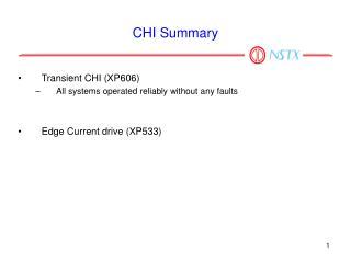 CHI Summary