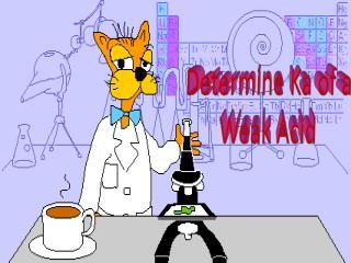 Determine Ka of a  Weak Acid