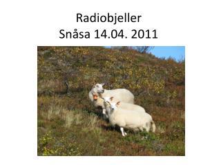 Radiobjeller  Snåsa 14.04. 2011