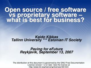 Open source / free software vs proprietary software – what is best for business?
