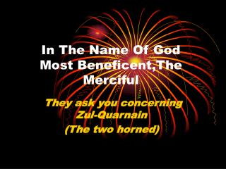 In The Name Of God Most Beneficent,The Merciful