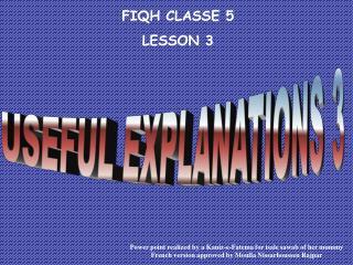 FIQH CLASSE 5 LE SSON 3