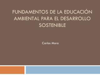 Fundamentos de la educación ambiental para el desarrollo sostenible