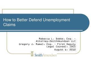 How to Better Defend Unemployment Claims