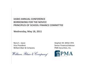 Nora S.  Joyce       Stephen W. Miller CPA Vice President       Senior Financial Advisor