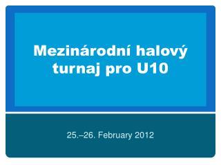 Mezinárodní  halový turnaj pro U10