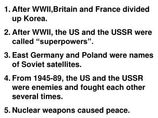 Beginning of Cold War