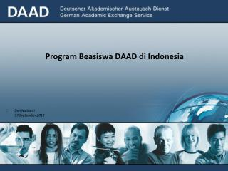 Program Beasiswa DAAD d i Indonesia