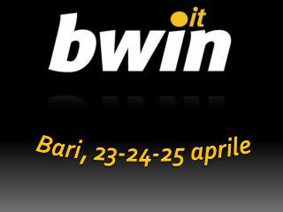 Bari, 23-24-25 aprile