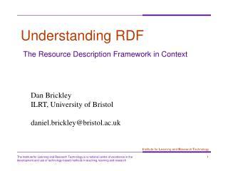 Understanding RDF