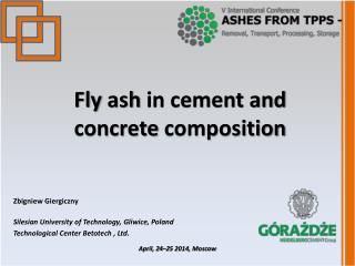 Fly ash  in cement and  concrete composition