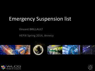Emergency Suspension list