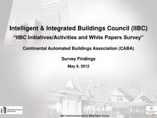 Intelligent & Integrated Buildings Council (IIBC)