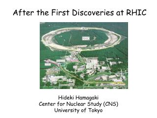 After the First Discoveries at RHIC