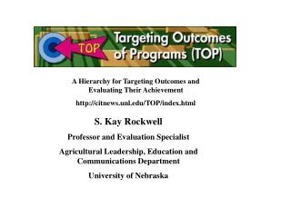 A Hierarchy for Targeting Outcomes and Evaluating Their Achievement