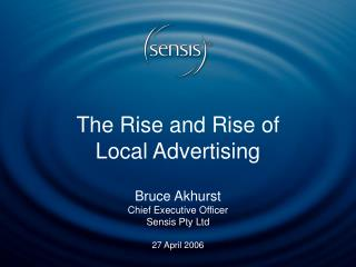 The Rise and Rise of Local Advertising