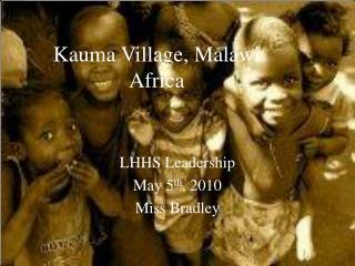 Kauma Village, Malawi  Africa