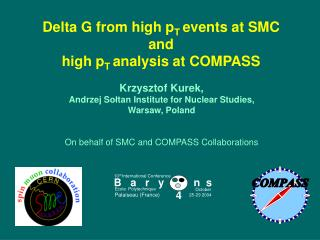 Delta G from high p T  events at SMC and high p T  analysis at COMPASS