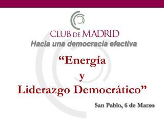 Hacia una democracia efectiva