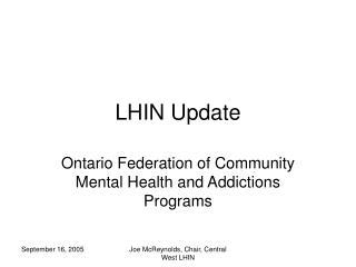 LHIN Update