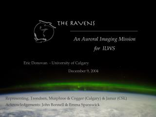 An Auroral Imaging Mission  for  ILWS