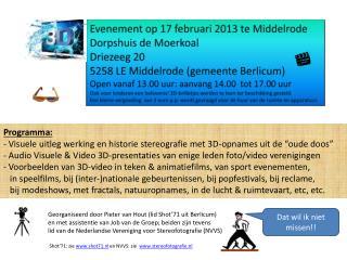 Evenement op 17 februari 2013 te Middelrode