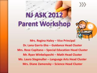 NJ ASK 2012  Parent Workshop
