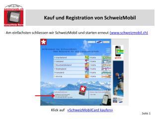 Vorgeschlagene Routen drucken (4 Kauf und Registration von SchweizMobil