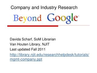 Company and Industry Research