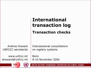 Andrew Howard UNFCCC secretariat unfccct ahoward@unfccct