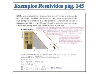 Exemplos Resolvidos pág. 145