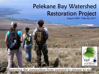 Pelekane Bay Watershed Restoration Project