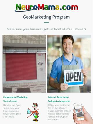 GeoMarketing  Program